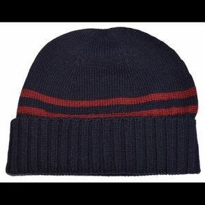 Gucci wool beanie navy L authentic
